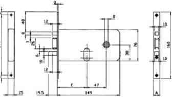 ...замков, предназначенных для профильных алюминиевых и пластиковых дверей с ограничением глубины установки...