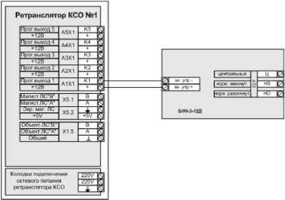 Схема подключения ксо-а