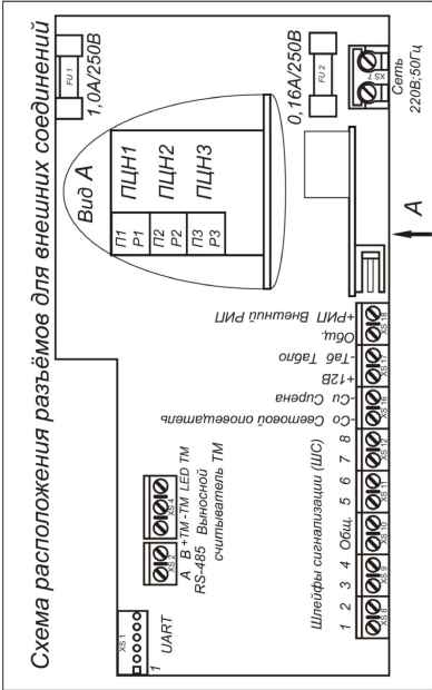 Электрическая принципиальная схема прибра ВЭРС-ПУ версия 1 0