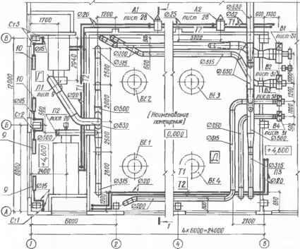 Пример исполнительной схемы системы